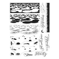 Hero Arts - Clear Photopolymer Stamps - Lily Pond HeroScape
