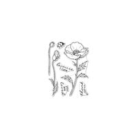 Hero Arts - Clear Photopolymer Stamps - Hero Florals Poppy