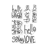 Hero Arts - Clear Photopolymer Stamps - Handwritten Messages