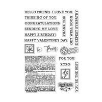 Hero Arts - Clear Photopolymer Stamps - Sending Love Mail