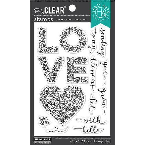 Hero Arts - Clear Photopolymer Stamps - Floral Love
