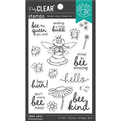 Hero Arts - Clear Photopolymer Stamps - Bee the Queen