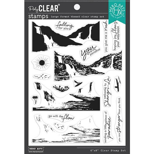 Hero Arts - Clear Photopolymer Stamps - Waterfall Heroscape