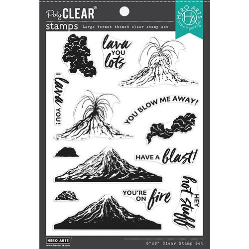 Hero Arts - Clear Photopolymer Stamps - Volcano HeroScape