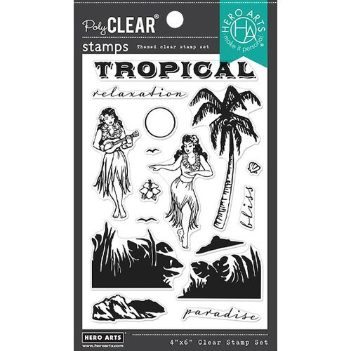 Hero Arts - Clear Photopolymer Stamps - Vintage Paradise