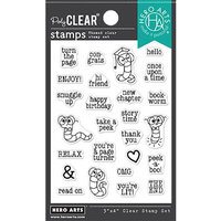 Hero Arts - Clear Photopolymer Stamps - Bookworm Messages