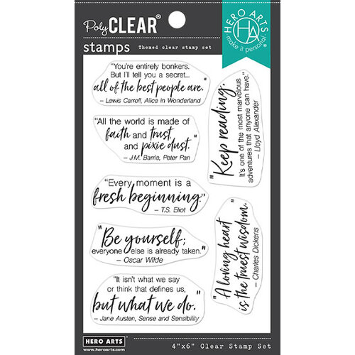 Hero Arts - Clear Photopolymer Stamps - Library Quotes