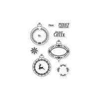 Hero Arts - Christmas - Clear Photopolymer Stamps - Holiday Cheer Ornaments