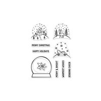 Hero Arts - Christmas - Clear Photopolymer Stamps - Make Your Own Snow Globe