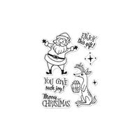 Hero Arts - Clear Photopolymer Stamps - Merry Christmas Santa and Reindeer