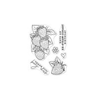 Hero Arts - Clear Photopolymer Stamps - Hero Florals Strawberries Line Art