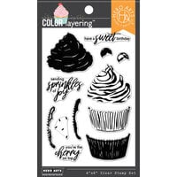 Hero Arts - Clear Photopolymer Stamps - Color Layering Cupcake