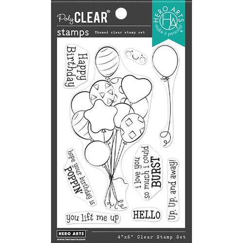 Hero Arts - Clear Photopolymer Stamps - Bunch of Balloons