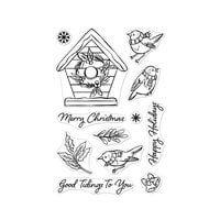 Hero Arts - Clear Photopolymer Stamps - Christmas Robins