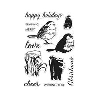 Hero Arts - Christmas - Clear Photopolymer Stamps - Color Layering Robin