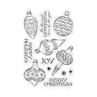 Hero Arts - Christmas - Clear Photopolymer Stamps - Holiday Ornaments