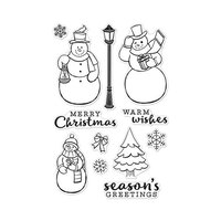 Hero Arts - Christmas - Clear Photopolymer Stamps - Merry Snowmen