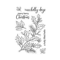 Hero Arts - Christmas - Clear Photopolymer Stamps - Holly Berries