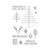 Hero Arts - Christmas - Clear Photopolymer Stamps - Graphic Lines Holiday