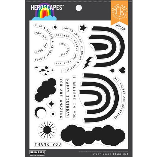 Hero Arts - Clear Photopolymer Stamps - Rainbow HeroScape