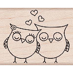 Hero Arts - Woodblock - Valentines - Wood Mounted Stamps - Heart Owl