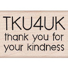 Hero Arts - Woodblock - Wood Mounted Stamps - TKU4UK - Thank You for your Kindness