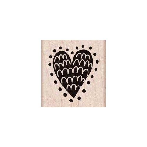 Hero Arts - Woodblock - Wood Mounted Stamps - Dots Around Heart