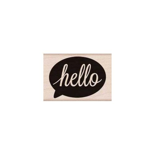 Hero Arts - Woodblock - Wood Mounted Stamps - Hello Bubble