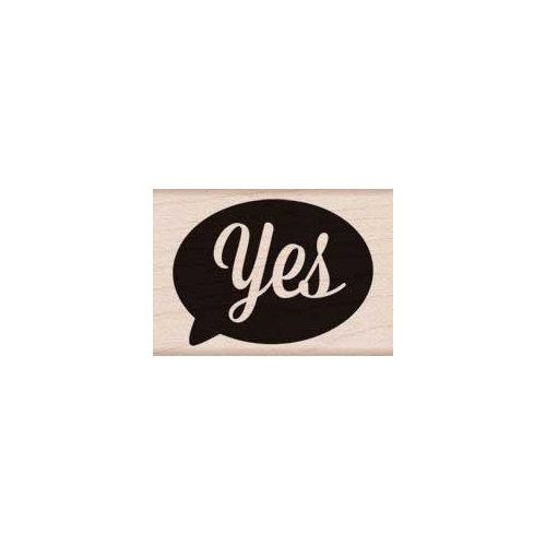 Hero Arts - Woodblock - Wood Mounted Stamps - Yes