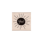 Hero Arts - Woodblock - Wood Mounted Stamps - Yes!