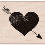 Hero Arts - Wood Block - Wood Mounted Stamp - Heart With Arrow