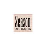 Hero Arts - Woodblock - Wood Mounted Stamps - Season of Thanks