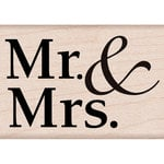 Hero Arts - Woodblock - Wood Mounted Stamps - Mr and Mrs