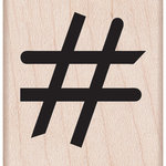 Hero Arts - Woodblock - Wood Mounted Stamps - Hash Tag