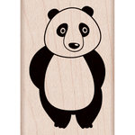 Hero Arts - Woodblock - Wood Mounted Stamps - Shy Panda