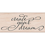 Hero Arts - Lia Griffith Collection - Woodblock - Wood Mounted Stamps - Create Your Dream