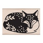 Hero Arts - Lia Griffith Collection - Woodblock - Wood Mounted Stamps - Sleeping Fox