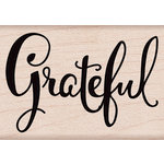 Hero Arts - Everyday Collection - Woodblock - Wood Mounted Stamps - Handwritten Grateful