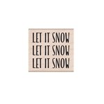 Hero Arts - Woodblock - Wood Mounted Stamps - Let It Snow Message