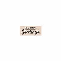 Hero Arts- Season of Wonder Collection - Christmas - Woodblock - Wood Mounted Stamps - Seasons Greetings Mixed Script