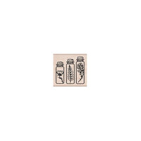 Hero Arts - Woodblock - Wood Mounted Stamps - Three Bottles