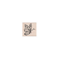 Hero Arts - Woodblock - Wood Mounted Stamps - Side View Butterfly