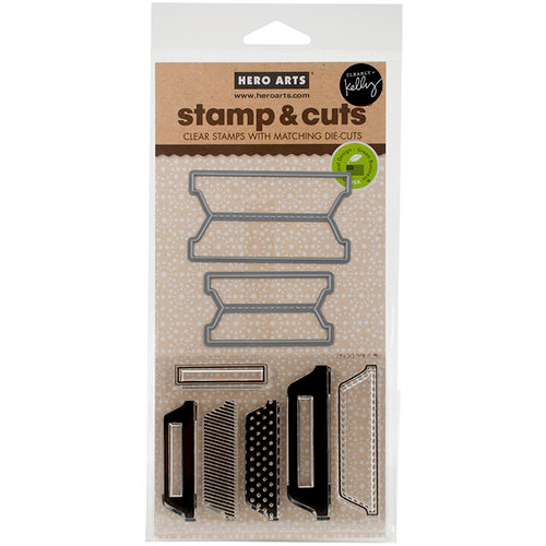 Hero Arts - Kelly Purkey Collection - Die and Clear Photopolymer Stamp Set - Scored Tabs