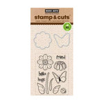 Hero Arts - Die and Clear Acrylic Stamp Set - Butterfly and Flower