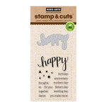 Hero Arts - Die and Clear Acrylic Stamp Set - Happy