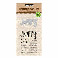 Hero Arts - Die and Clear Photopolymer Stamp Set - Happy