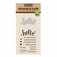 Hero Arts - Die and Clear Photopolymer Stamp Set - Hello