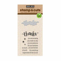 Hero Arts - Die and Clear Photopolymer Stamp Set - Thanks