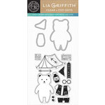 Hero Arts - Lia Griffith Collection - Die and Clear Acrylic Stamp Set - Oscar Cut-Outs