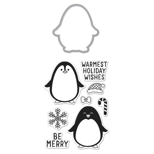 Hero Arts - Christmas - Die and Clear Photopolymer Stamp Set - Winter Penguin